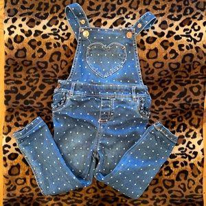 [True Craft] polka dot overalls